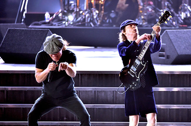AC/DC perform at The Grammys