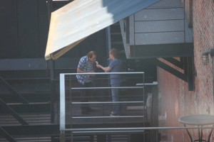 Stevie Young and Angus Young at Warehouse Studios Vancouver
